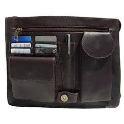 Piel Leather Large Handbag With Organizer Saddle