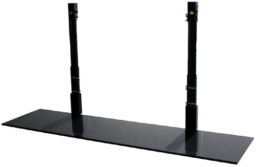 TV Wall Mount Shelf BLG-00048 4-Feet Smart Shelf for 42-60-Inch TV, Black Glass