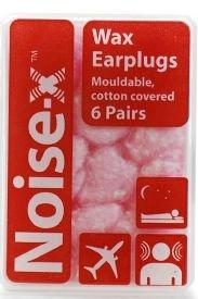 Noise-X Earplugs Wax Cotton 6Pr