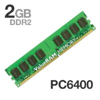 Kingston ValueRAM 2GB 800MHz DDR2 Non-ECC DIMM Desktop Memory KVR800D2/2GR