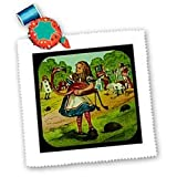 Alice in Wonderland Golfing - 10x10 Quilt Square