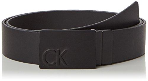 Calvin Klein Jeans Power CK Plaque Rev. 1, Cintura Uomo, Nero (Black 001), 110 cm