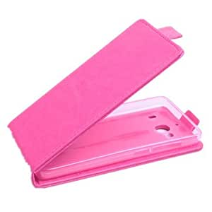 Flip-open PU Leather Protective Case Cover For Redmi 2-Rose Red