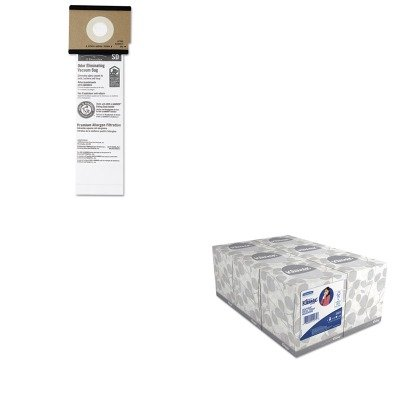 KITEUK63262B10KIM21271 - Value Kit - Eureka Sanitaire Series Upright Vacuum Cleaner Replacement Bags (EUK63262B10) and KIMBERLY CLARK KLEENEX White Facial Tissue (KIM21271) 75 eureka c allergy mighty might canister vacuum bags white westinghouse floorshow cleaner home cleaning systm commercial vacuum cleaners 52318 52318 12 57697 12 filteraire 54921 10 54021 10 vip 9020 3015b 3035a 3035b 3035d 3020be s3191