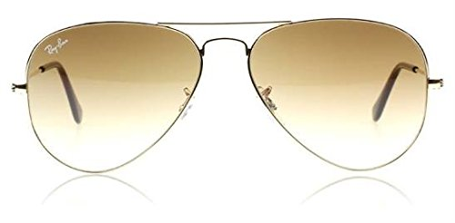 a4c038d1b70fd Ray-Ban RB3025 001 51 55mm Aviator Gold Frame   Light Brown Gradient Lenses  Made In Italy Sunglasses