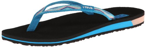 Teva Women'S Contoured Ribbon Mush W Sandal,Sunset Blue Jewel,8 M Us front-1032402