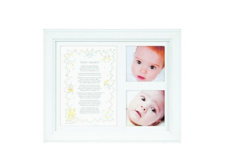 The Grandparent Gift Co. Photo Frame, Twin Hearts