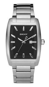 DKNY Mens Watch NY1457 with Black Dial and Silver Stainless Steel Bracelet