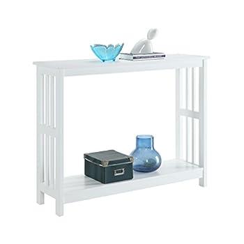 Convenience Concepts Mission Console Table, White