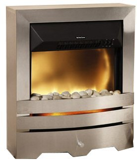 Brushed Steel Electric Fire - 2000W