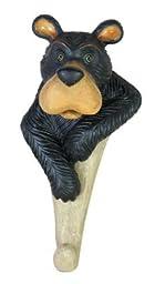 Coat Key Holder 1 Hook Rack, Bear Bust Head Face Figure Wall Decor, 6-inch