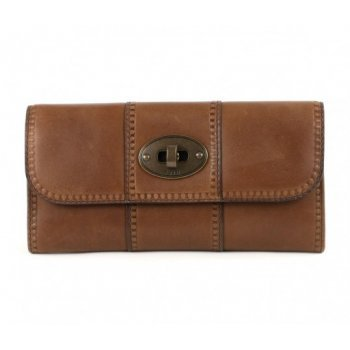 Fossil 'Vintage Revival' Flap Clutch in Pecan