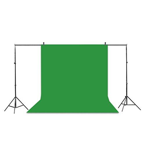 Excelvan 10x6.5 ft stand Fotografia Kit Set con 9ft x 6 piedi Verde Nero e bianco fondale