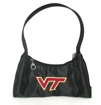 Virginia Tech Hokies Hobo Purse - Black ncaa 10