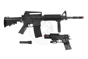 COLT M4 RIS Rifle & M1911 Pistol Airsoft Gun - COLT M4 RIS Rifle & M1911