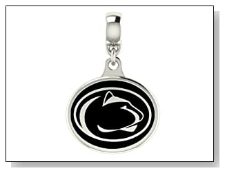 Penn State Nittany Lions Black Enamel Collegiate Drop Charm Fits Most Pandora Style Bracelets Including Pandora Chamilia Zable Troll and More. High Quality Bead in Stock for Immediate Shipping. Officially Licensed
