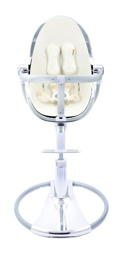 bloom Special Edition Silver Fresco Chrome High Chair in Coconut White