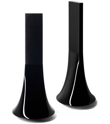 Parrot Design Zikmu Wireless Hi-Fi Speakers By Philippe Starck (Classic Black, Pair)