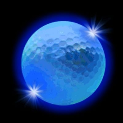 Windy City Novelties Novelty LED Golf Ball, White - 1