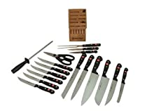 Hot Sale Wusthof Gourmet 18-Piece Knife Set with Storage Block
