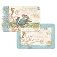 Set of 4 Reversible Placemats - Seaside Blue Crab - Counter Art Decofoam