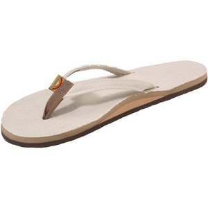 93ae76f6f9c7 Rainbow Sandals Women Hemp Narrow Strap Single Layer