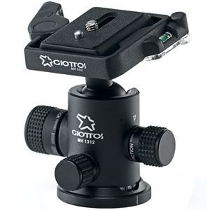 Giottos GTMH1312-652 Ball Head with Friction and Quick Release Plate Weight: 0.36 kg max. Capacity: 6 kg Black