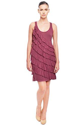 LaRok Cute Ruffle Silk Jersey Dress