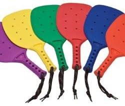 Junior Rainbow Plastic Paddles Set