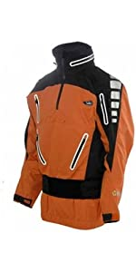 YAK CONQUEST Hooded Touring Cag in Orange/Black 6734 Size-- - Medium
