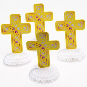 Mini Cross Table Centerpieces