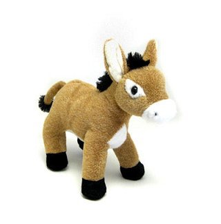 "Standing Baby Brown Donkey 7"" by Unipak"