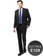 Slim Fit 2 Button Jacket with Wool