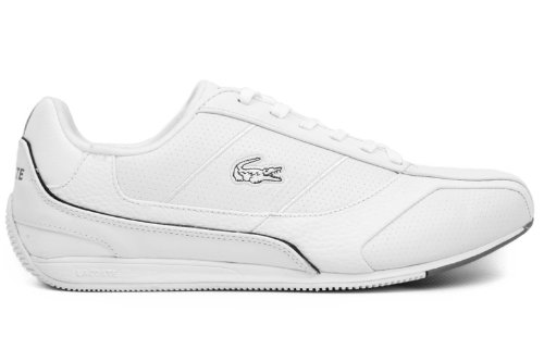 Lacoste Mens Radium L SN SPM Leather [7-21SPM12112A7] White/Dark Grey Mens Shoes 7-21SPM12112A7-10.5