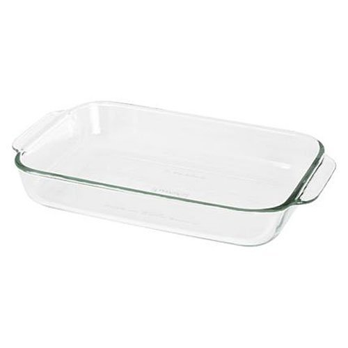 Pyrex Bakeware 2 Quart Oblong Glass Baking Dish, Clear Set Of 2