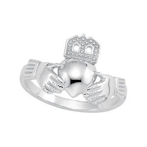 Platinum Small Claddagh Ring