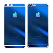 ssimpex® Electroplant Tempered Glass Front/Back Screen Protector Film For Iphone 6 (BLUE)