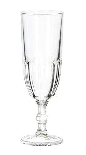 Comptoir de Famille 155410 Flûte à Champagne Verre Transparent 13 x 19 x 19 cm
