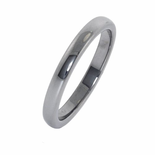 3MM Thin Classic Polished Domed Tungsten Carbide Band (sizes 5 - 12 Available) - Size 5