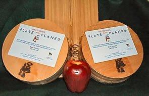 Circular Western Red Cedar Plate Plank Case (Case Of 24)