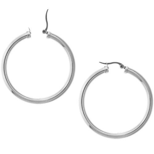 Inox Jewelry 316L Stainless Steel 60mm Hoop Earrings
