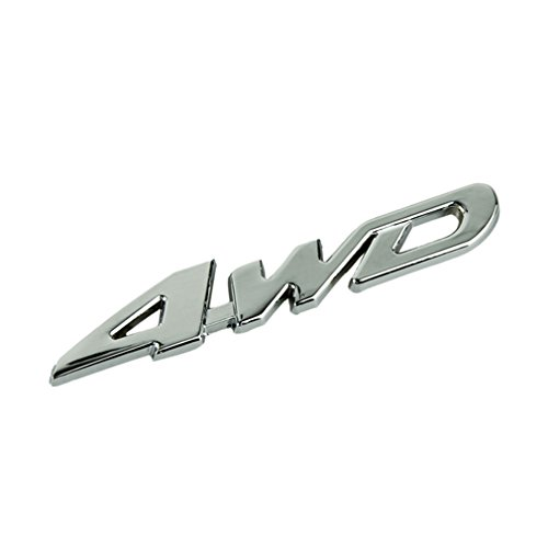 Voberry® Silver Tone Metal 4Wd Pattern Car Badge Sticker Emblem Decor