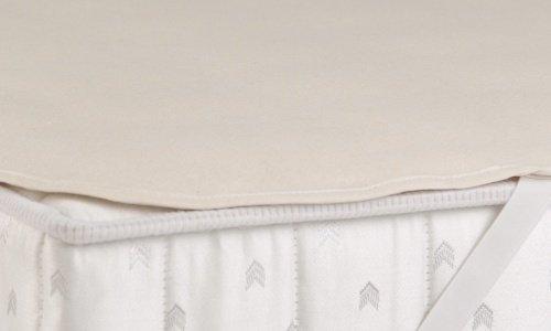 Molton Matratzenauflagen aus 100% reiner Baumwolle Waschbar bis 95°C - Grösse 90x220 thumbnail
