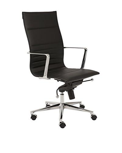 Euro Style Kyler High Back Office Chair, Black