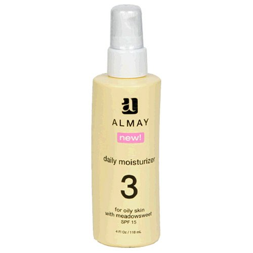 Almay Daily Moisturizer for Oily Skin with Meadowsweet & SPF 15, 4-Ounce Package