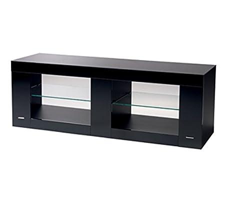 B-TECH BTF803/B Design-Rack fur Flachbild-Fernseher mit Glasoberfläche (Belastbarkeit bis 70kg) schwarz