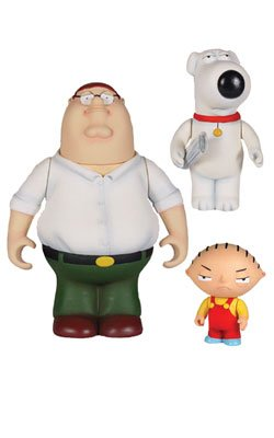 Picture of Mezco Family Guy Classics set of 3 Peter Brian Stewie Figure (B002IULS4W) (Mezco Action Figures)