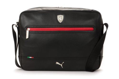 Puma Ferrari Ls Messenger Shoulder Bag Black 07224401