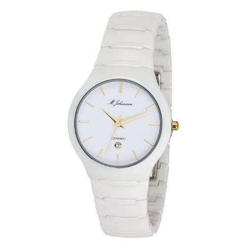 M. Johansson AosWg Unisex Quartz White Ceramic Wrist Watch