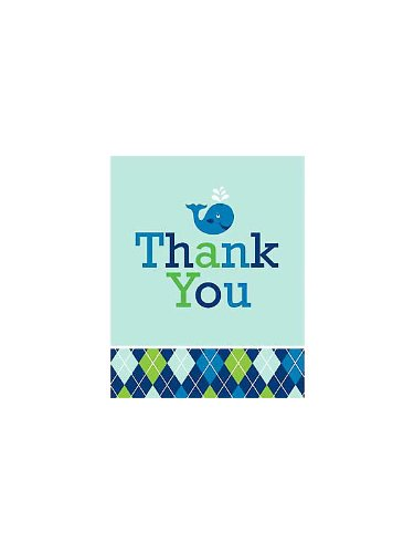 Ocean Preppy Boy Thank You Cards 8ct - 1
